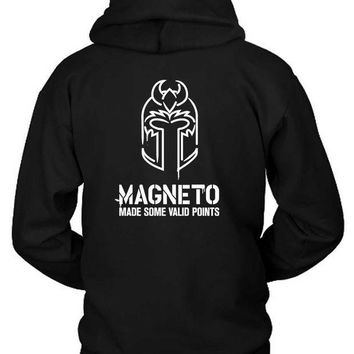 ESBH9S Marvel Magneto Made Some Valid Points Hoodie Two Sided