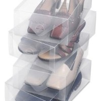 Whitmor 6362-2691-4 Clear Vue Collection Women's Shoe Box, Set of 4