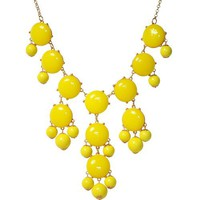 Bubble Statement Necklace, Chunky Bubble Necklace,Bubble Yellow Necklace(Fn0508-Yellow) | AihaZone Store