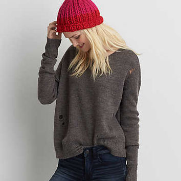 AEO Distressed Sweater , Gray