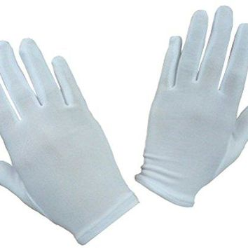 N'Ice Caps Girls Stretch White Special Occasion Parade Costume Gloves