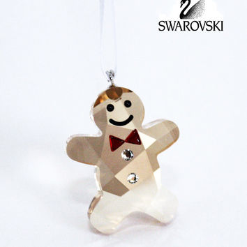 Swarovski Crystal Christmas Figurine Ornament TWINKLING GINGERBREAD MAN #5103229