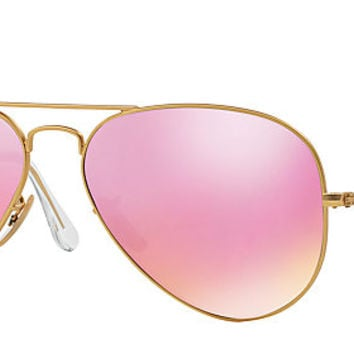 Ray-Ban RB3025 112/4T 58-14 AVIATOR FLASH LENSES Gold sunglasses | Official Online Store US