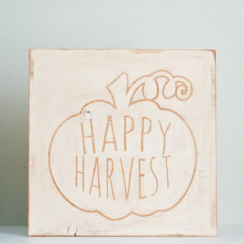 Happy Harvest Fall Wooden Sign SALE!