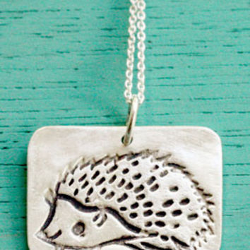 Silver Hedgehog Necklace