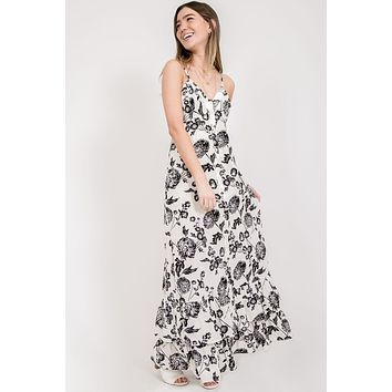 Santorini Sunset Maxi Dress