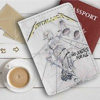 Metallica And Justice For All Leather Passport Wallet Case Cover