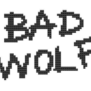 f48c7aa469a Bad Wolf cross stitch pattern science from pickleladyfarm on Etsy