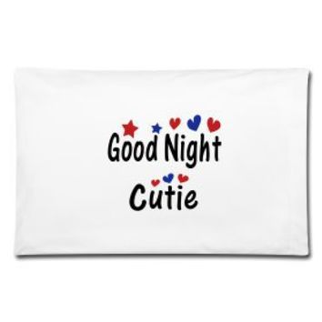 Good night cutie pillow case | Story T-Shirts