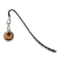 Acoustic Guitar - Strings Metal Bookmark with Charm