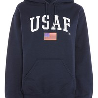 USAF Logo Hoodie by Tee & Cake - Hoodies & Sweats - Clothing