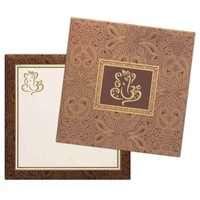 Wedding Reception Gold Series Invitation Card-KNK4343