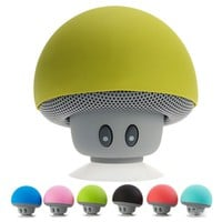 Waterproof Wireless Bluetooth Portable Mini Mushroom Shower/Bath/Pool Speaker for iPhone or Android
