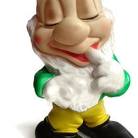Disney Dwarf . Rubber Squeaky Toy . Snow White Dwarf . Gnome .  Walt Disney. Squeak Toy .