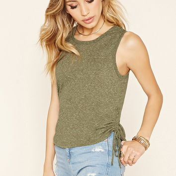 Ruched Burnout Top