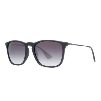 Ray Ban RB4187 Chris Gradient Lens Unisex Square Sunglasses