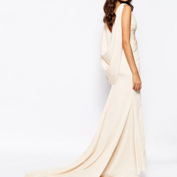 Fame and Partners Eternity Maxi Dress With Low Cowl Back