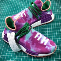 Pharrell X Adidas Nmd Hu Trail Holi Powder Dye Chalk Coral Ac7034 Boost - Best Online Sale