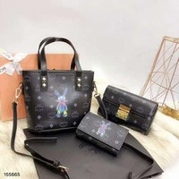 MCM 2018 new trend female models shoulder bag Messenger bag three-piece