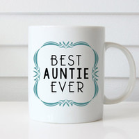 Aunt Mug Best Auntie Ever Sister gifts, Ceramic Coffee Cup, coffee mugs personalized, Baby Reveal Birth Announcement mugs, Sister gifts