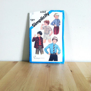 Simplicity 6565 Child's Shirt in Two Styles {1984} Vintage Sewing Pattern