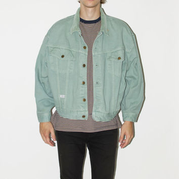 "80's Seafoam Green ""Marithe Girbaud-Francois"" Denim Jacket"