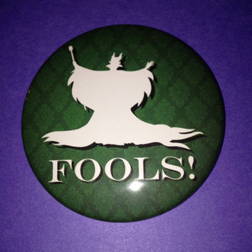 Sleeping Beauty Maleficent Fools 3 Inch Button