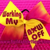 Working My Bow Off- Tie Dye: Rhinestone Cheer Bows, Sequin, Glitter, Monogram & Custom Cheer Bows