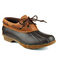 Women's Saltwater Isla Duck Boot in Brown/Tan by Sperry