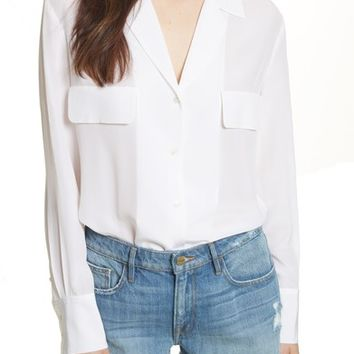 FRAME Pocket Silk Blouse | Nordstrom