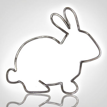Metal Bunny Outline