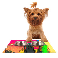 "Oriana Cordero ""Days of Summer"" Rainbow Abstract Dog Place Mat"