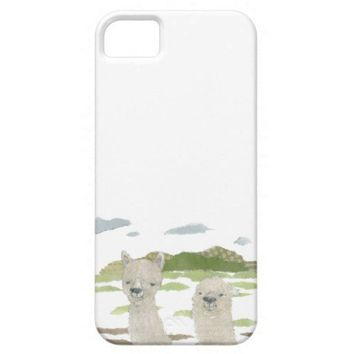 Alpacas iPhone 5 Case Background Color Changeable from Zazzle.com