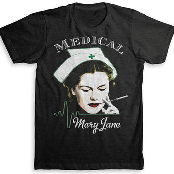 Medical Mary Jane T Shirt - Marijuana Tri-Blend Vintage Fashion - Graphic Tees for Men & Women
