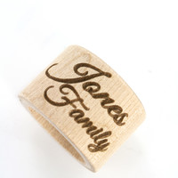 Personalized Wooden Napkin Rings