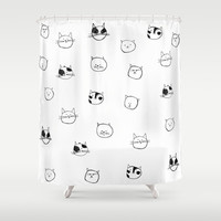 Cats Pattern Shower Curtain by Karin Lauria