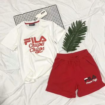 FILA & Chupa Chups Co-branded 2018 Counters Hot Short Sleeve T-Shirts F-CY-MN