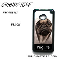 New Design Funny Hilarious Pug Life Parody Fans For HTC One M7 Case Please Make Sure Your Device With Message Case UY