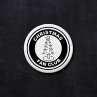 Christmas fan club button