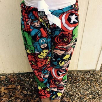 Fleece Marvel Comics Pajama Pants