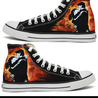 Green Day 21CB Handpainted Converse All Star Shoes