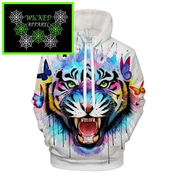 Wicked Apparel Secret Tiger Hoodie By Pixie cold #604