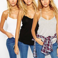 ASOS The Ultimate Cami 3 Pack SAVE 16%