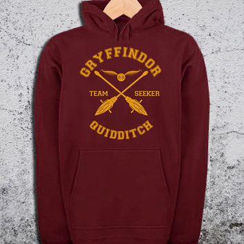 Gryffindor Quidditch Hoodie Harry Potter Unisex Hoodies