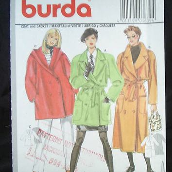 Burda Coat and Jacket Loose Fitting Pattern 3 lengths by 7thStash