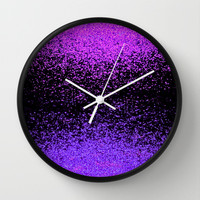 sparkly exchange Wall Clock by Marianna Tankelevich