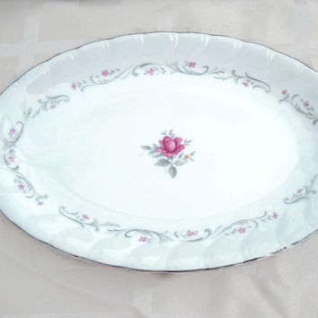Vintage Royal Swirl Fine China of Japan Serving Underliner Plate for Gravy Boat