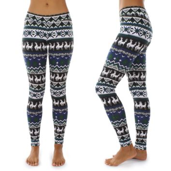 Women Tight The deer Print To keep warm Pants