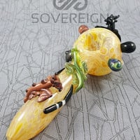 Mother of Dragons Spoon Pipe by Empire Glassworks