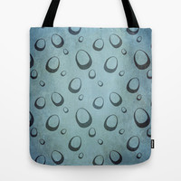 Messy Blue Eggs Tote Bag by RunnyCustard Illustration